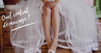 choix du contrat de mariage