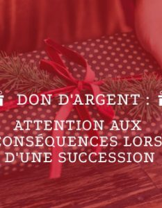 don d'argent succession