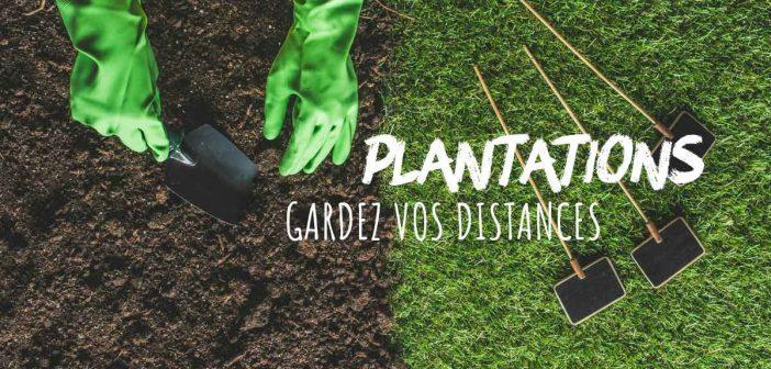 plantations, les bonnes distances