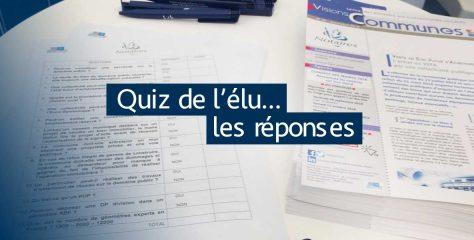 Les réponses du «Quiz de l'élu» spécial Congrès des Maires