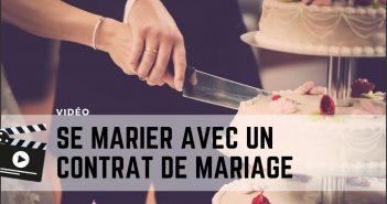se marier avec un contrat de mariage