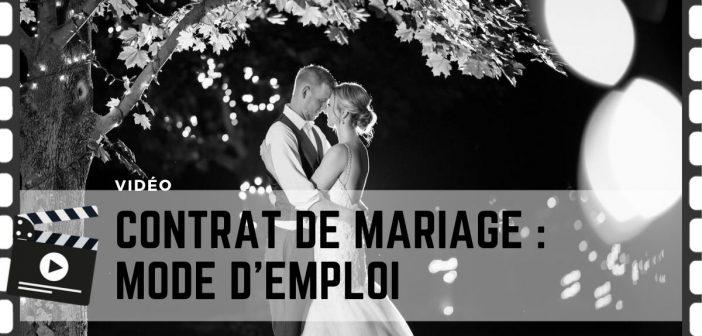 faire un contrat de mariage