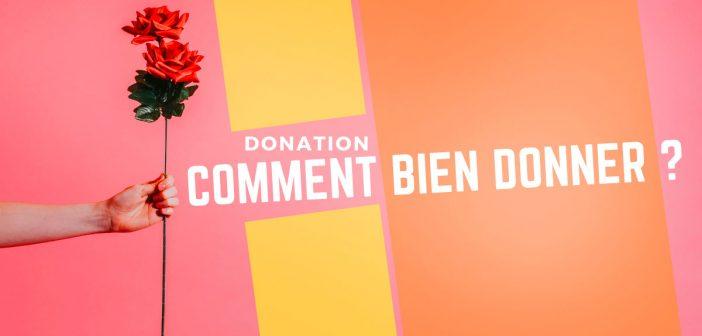 donation, faisons le point
